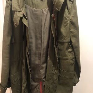 Olive Green Trench